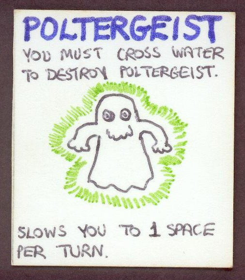 Bob's original poltergeist card - click to see a larger version