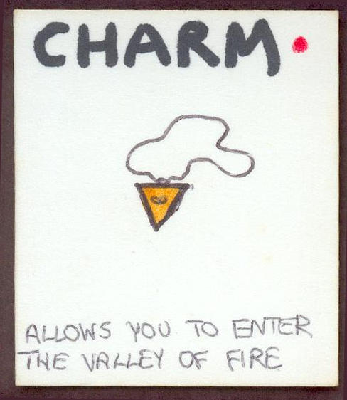 Bob's original charm card - click to see a larger version